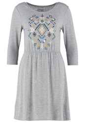 Twintip Jersey Dress Mid Grey Melange Mottled Grey
