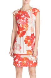 Women's Vince Camuto Floral Print Scuba Sheath Dress