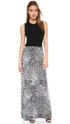 Issa Hurley Gown Black White Multi