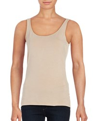 Lord And Taylor Iconic Fit Slimming Tank Beige