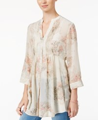 American Rag Printed Pintucked Blouse Only At Macy's Floral Print