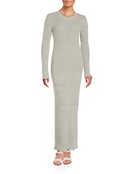Helmut Lang Cashmere Long Sleeve Gown Heather Grey