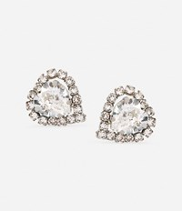 Christopher Kane Small Love Heart Stud Earrings Metallic