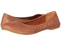 Lucky Brand Emmie Toffee Nubuck Leather Women's Flat Shoes Brown