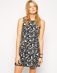 Worn By Sleeveless Dress In All Over Leopard Print Grey