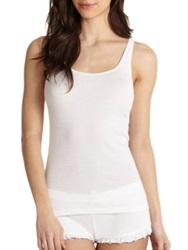 Skin Essential Ribbed Tank Top Off White Black