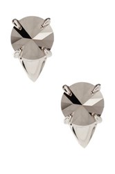 Vince Camuto Pointed Resin Stud Earrings Metallic