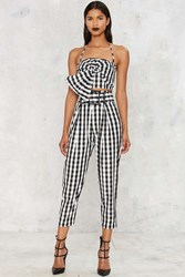 Kendall Kylie Gingham Style Belted Trouser