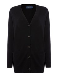 Polo Ralph Lauren V Neck Boyfriend Cardigan Black