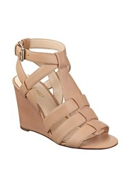 Nine West Farfalla Strappy Wedge Natural
