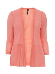Evans Plus Size Orange Peplum Cardigan