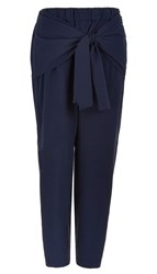 Tibi Seersucker Tie Detail Pants