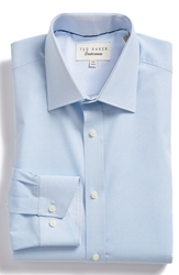 Ted Baker Trim Fit Dress Shirt Medium Blue