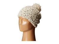 San Diego Hat Company Knh3370 Textured Beanie With Gold Sequins Ivory Beanies White