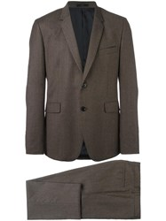 Paul Smith Flap Pockets Formal Suit Brown
