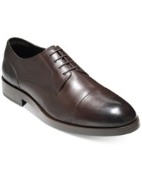 Cole Haan Men's Henry Grand Cap Toe Oxfords Men's Shoes Dark Brown