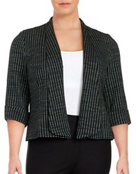Nipon Boutique Plus Textured Shawl Collar Blazer Black