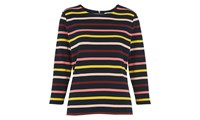 Whistles Multi Stripe Long Sleeved Tee Multicolour