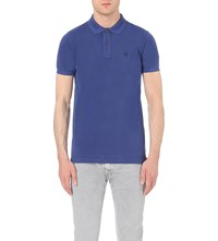 Replay Cotton Pique Polo Shirt Royal