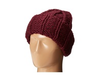 San Diego Hat Company Knh3304 Oversized Large Cable Knit Beanie Wine Beanies Burgundy