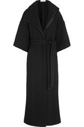 Amanda Wakeley Satin Trimmed Wool Coat