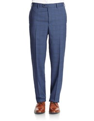 Tallia Orange Plaid Dress Pants Blue