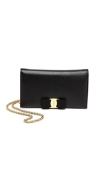 Salvatore Ferragamo Miss Vara Wallet On A Chain Nero