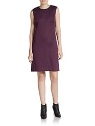 Altea Printed A Line Shift Dress Purple