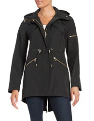 Vince Camuto Military Inspired Anorak Jacket Black