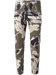 Philosophy Di Alberta Ferretti Cropped Abstract Print Trousers