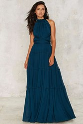 Nasty Gal Bacall Maxi Dress Teal Green
