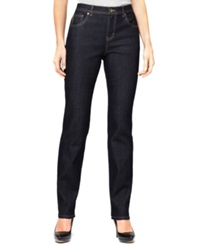 Style And Co. Petite Jeans Tapered Leg Tummy Control Rinse Wash