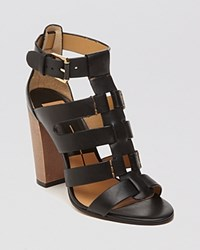 Dolce Vita Open Toe Gladiator Sandals Niro High Heel Black