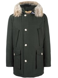 Woolrich Padded Hooded Parka Green