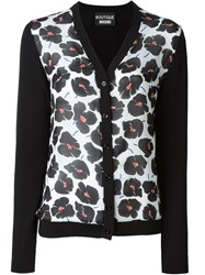Boutique Moschino Floral Print Cardigan Black