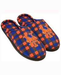 Forever Collectibles New York Mets Flannel Slide Slippers Blue