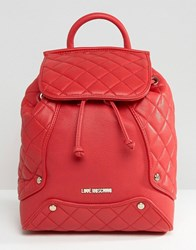 Love Moschino Quilted Backpack Red