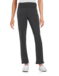 Marc New York Fold Over Knit Pants Charcoal Heather
