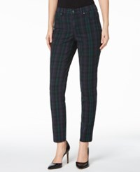 Charter Club Bristol Printed Skinny Ankle Jeans Only At Macy's Deep Black Combo