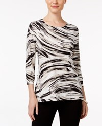 Jm Collection Printed Jacquard Top Only At Macy's Neutral Windswept