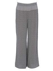Wallis Monochrome Wide Leg Trouser Black White
