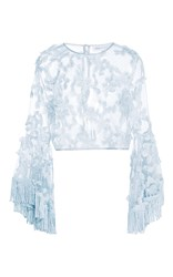 Alice Mccall Blue California Sun Fringe Top Light Blue