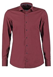 Eterna Slim Fit Formal Shirt Dunkelrot Dark Red