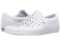 Vans Classic Slip On Cut Out Geo True White Skate Shoes Cut Out Geo True White