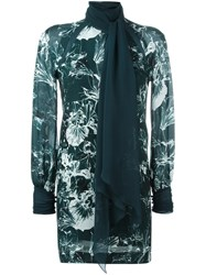 Ungaro Emanuel Floral Print Dress Green