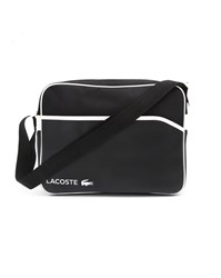 Lacoste Pu Black And White Messenger Bag