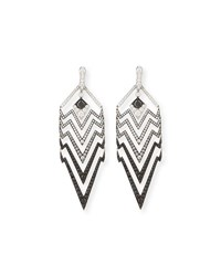 Stephen Webster Lady Stardust Graduated Black And White Diamond Earrings