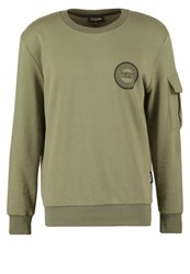 Jaded London Utility Sweatshirt Khaki