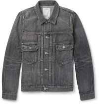 Visvim Social Sculpture 101 Washed Selvedge Denim Jacket Black