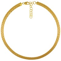 Eclectica Vintage 1980S Italian Gold Plated Collar Necklace Gold